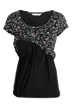 MAMA Nursing top - Black/Floral - Ladies | H&M CN 3