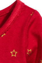 Jersey dress - Red/Star -  | H&M CA 2