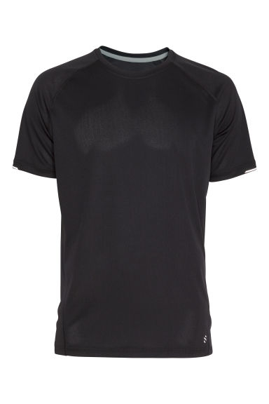 Short-sleeved running top - Black - Men | H&M CN 1