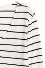 V-neck jersey top - White/Striped - Ladies | H&M CN 3
