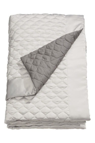 Quilted bedspread single - Beige/Grey - Home All | H&M CN 1