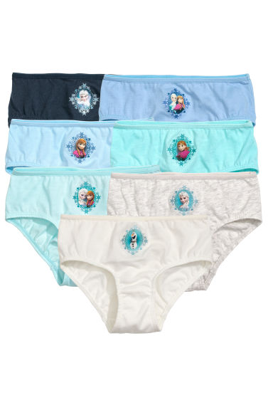 7-pack cotton briefs - Light blue/Frozen - Kids | H&M CN 1