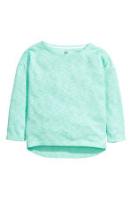 Sweatshirt - Mint green marl - Kids | H&M CN 2