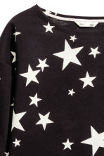 Sweatshirt - Black/Stars - Kids | H&M CN 3