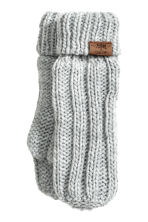 Cable-knit mittens - Light grey marl - Kids | H&M CN 1