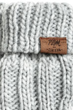 Cable-knit mittens - Light grey marl - Kids | H&M CN 2