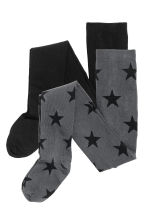 2-pack tights - Dark grey/Stars - Kids | H&M CN 2