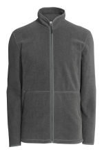 Fleece jacket - Dark grey marl - Men | H&M CN 2