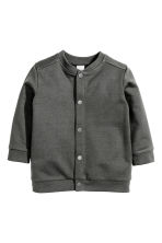 Sweatshirt cardigan - Dark grey - Kids | H&M CN 1
