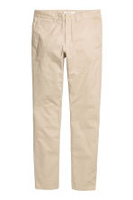 Chinos Skinny fit - Light beige - Men | H&M CN 2