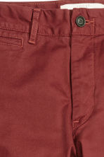 Chinos Skinny fit - Rust red - Men | H&M CN 3