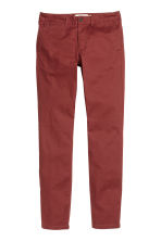 Chinos Skinny fit - Rust red - Men | H&M CN 2