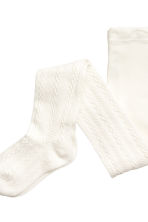 2-pack tights - White - Kids | H&M CN 3