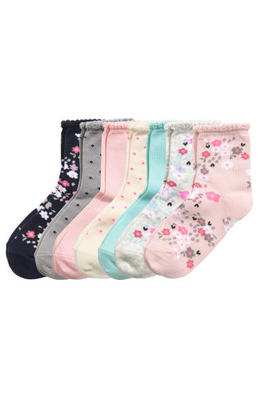 7-pack socks - Light pink/Floral - Kids | H&M CN 1