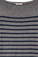 H&M+ Fine-knit jumper - Dark grey/Striped - Ladies | H&M CN 3