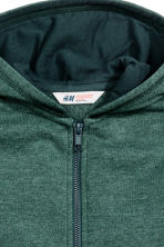 Hooded jacket - Dark green marl - Kids | H&M CN 3