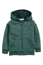 Hooded jacket - Dark green marl - Kids | H&M CN 2