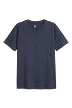 Round-neck T-shirt Regular fit - Dark blue marl - Men | H&M CN 2