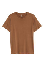 Round-neck T-shirt Regular fit - Dark camel - Men | H&M CN 2