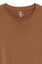 Round-neck T-shirt Regular fit - Dark camel - Men | H&M CN 3