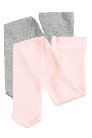2-pack tights - Light pink - Kids | H&M CA 1