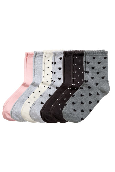 7-pack socks - Black/Spotted - Kids | H&M CN 1