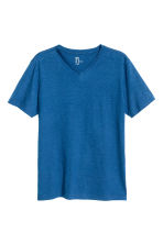 V-neck T-shirt Regular fit - Blue marl - Men | H&M CN 2
