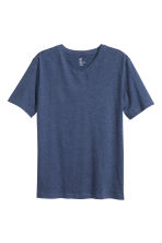 V-neck T-shirt Regular fit - Dark blue marl - Men | H&M CN 2