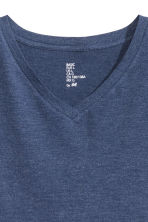 V-neck T-shirt Regular fit - Dark blue marl - Men | H&M CN 3