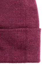 Knitted hat - Dark purple - Ladies | H&M CN 2