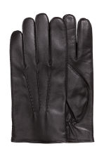 Leather gloves - Black - Men | H&M CN 1