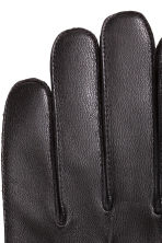Leather gloves - Black - Men | H&M CN 2