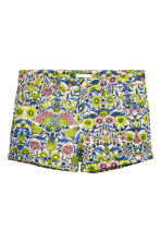 Twill shorts - Light beige/Floral - Ladies | H&M CN 1