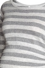 MAMA Fine-knit jumper - Silver-grey/Striped - Ladies | H&M CN 3