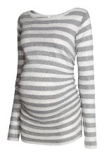 MAMA Fine-knit jumper - Silver-grey/Striped - Ladies | H&M CN 2