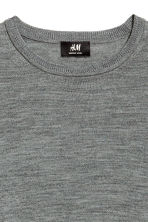 Merino wool jumper - Dark grey marl - Men | H&M CN 3