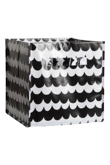 Storage box - Black/Patterned - Home All | H&M CN