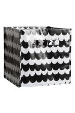 Storage box - Black/Patterned - Home All | H&M CN 1