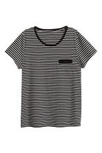 Pyjamas with top and shorts - Black/Striped - Ladies | H&M CN 3