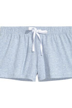 Pyjamas with top and shorts - Blue marl - Ladies | H&M CN 4