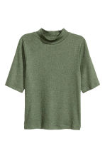 Polo-neck top - Khaki green - Ladies | H&M CN 1