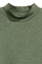 Polo-neck top - Khaki green - Ladies | H&M CN 2
