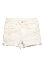 Shorts in jeans High Waist - Bianco - DONNA | H&M IT 2