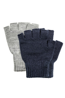 2-pack fingerless gloves