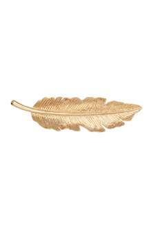 Leaf-shaped hair clip