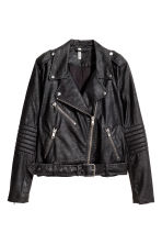 Biker jacket - Black/Textured - Ladies | H&M GB 4