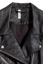 Biker jacket - Black/Textured - Ladies | H&M GB 5