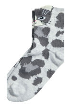 3-pack socks - Grey/Cat - Kids | H&M CN 4