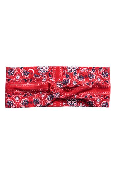 Patterned hairband - Red - Ladies | H&M CN 1