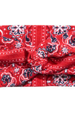 Patterned hairband - Red - Ladies | H&M CN 2